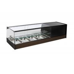 Vitrina de bar refrigerada con cubetas - modelo R iE