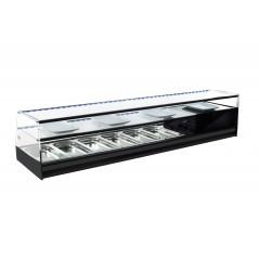 Vitrina de bar refrigerada con cubetas y cristal recto - modelo ABF
