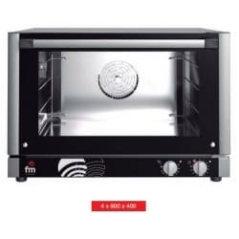 Horno panadería 4 bandejas de 600x400 mm trifásico de FM