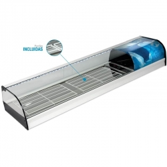 Vitrina de bar refrigerada conparrillas - modelo VN-E