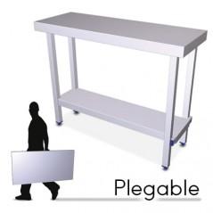 Mesa plegable profesional con entrepaño