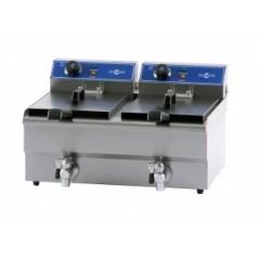 Freidora eléctrica serie gastronorm de cuba doble mod. FRY-9+9
