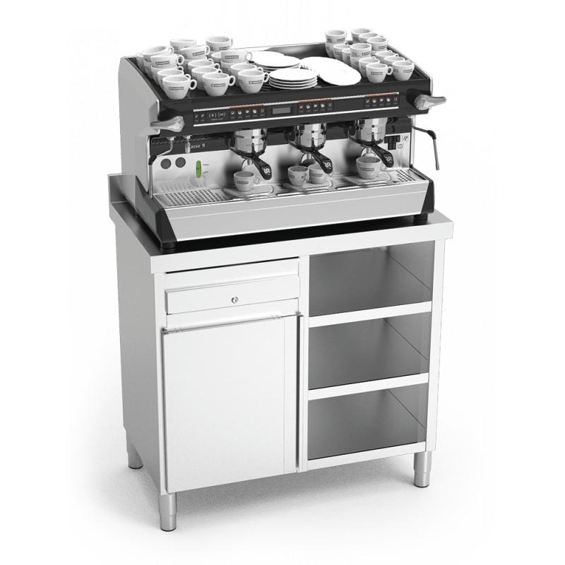 Mueble cafetero en acero inoxidable BA02