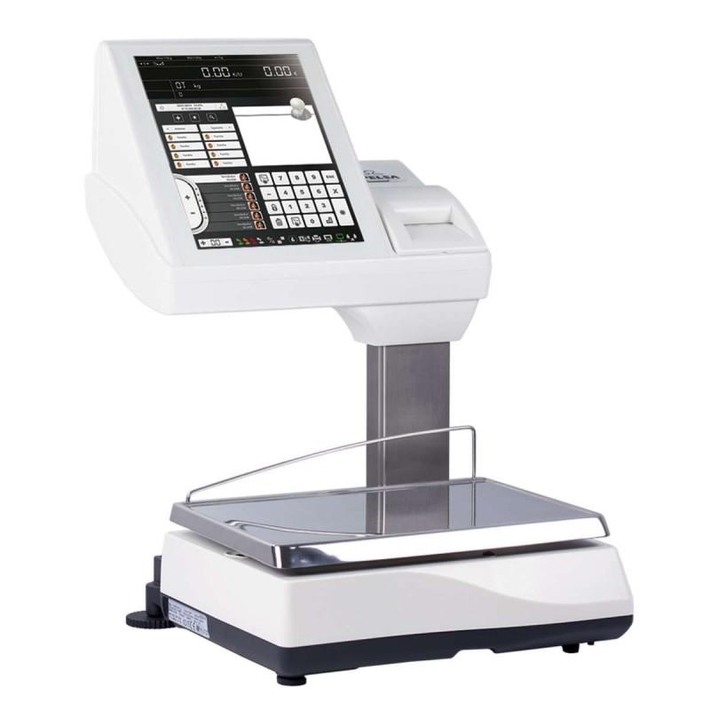 Balanza KSCALE 12 20 I Impresora PC tácil sobremostrador con impresora