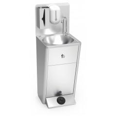 Lavamanos portatil autónomo con dispensador de jabón y toallas