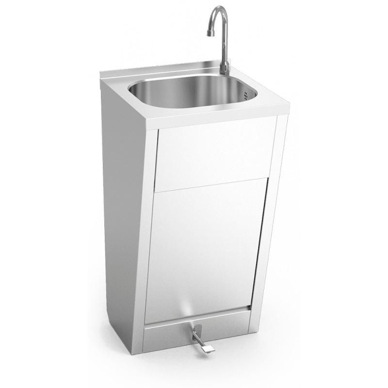 Lavamanos registrable con pedal de agua fría y caliente 061004