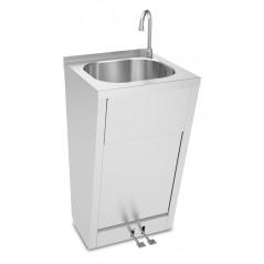 Lavamanos registrable con doble pedal de agua fría y caliente- Modelo 061008
