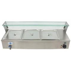 Vitrina caliente al baño maria - Modelo VI