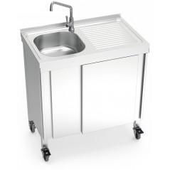 Fregadero portátil automático agua fría
